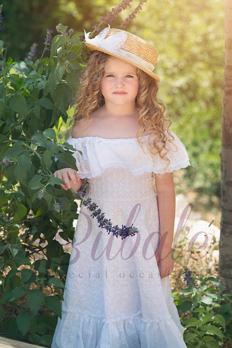 5204a7eee3c1 Off the shoulder Boho DressBoho-chic Girl Dress Vintage   Etsy