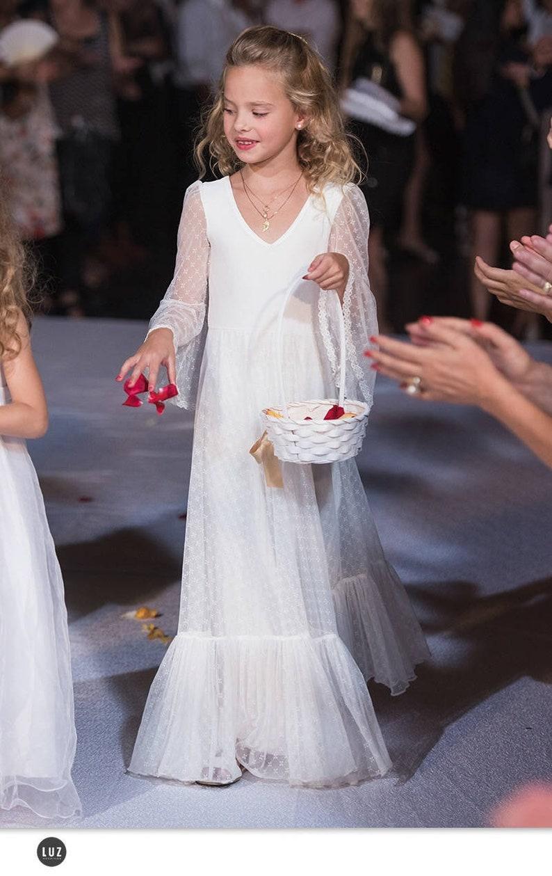 61794f1f160 First Communion Dress Flower Girl Boho Lace Dress