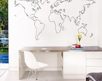 7 x 4 ft World Map Decal Large World Map Vinyl Wall | Etsy  Ft World Map Decals on world map art, world travel decal, world map engraving, world map fan, world map of the wall, world map vase, world map large size, world map magnet, world map as background, world map fuse, world map card, world map tank, world map tape, world map poster, world history decal, world globe decal, world map sleeve, world map oil, world map mirror, world map design,