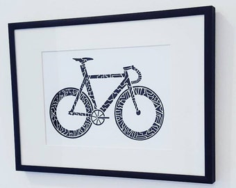 """Pista bici stampa artistica. Fixie parete Art A5 (8,3 """"x 5,8"""")"""