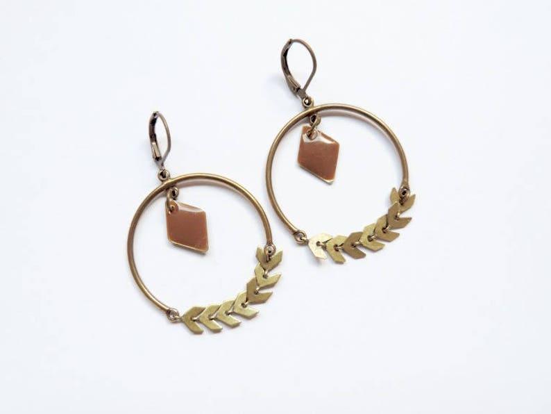 Earrings  Laurel Brown image 0