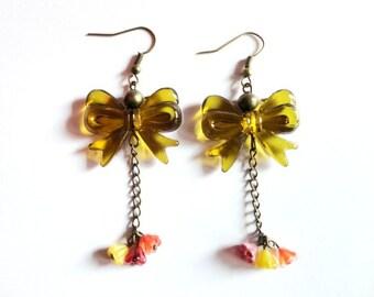 Earrings - Mustard