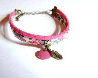 Bracelet - Double I (cord Frou-Frou flowers/pink)