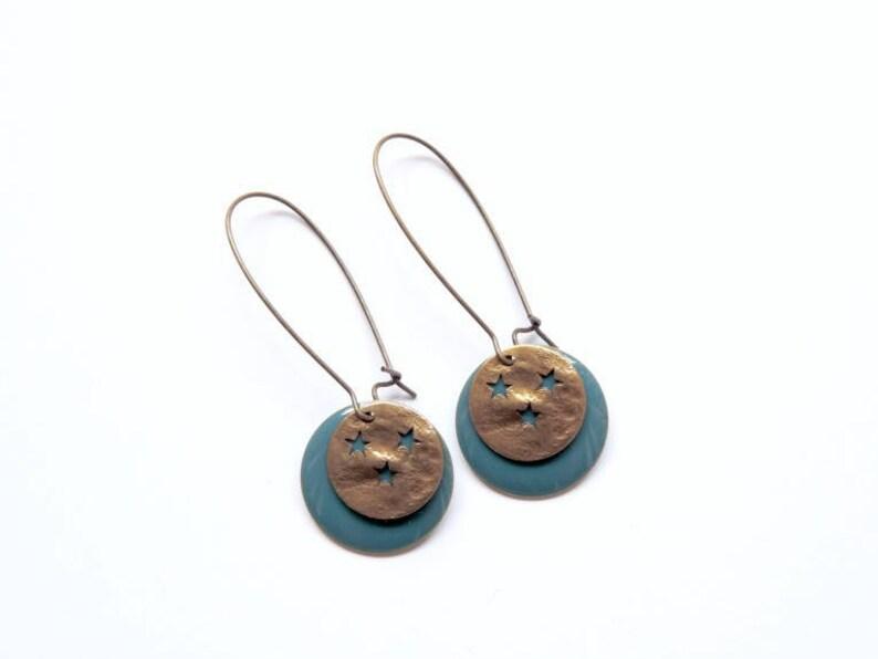 Earrings  By Night teal image 0