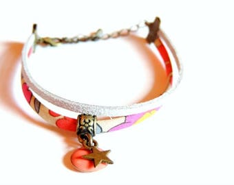 Bracelet - Double I (Liberty Betsy neon tea)