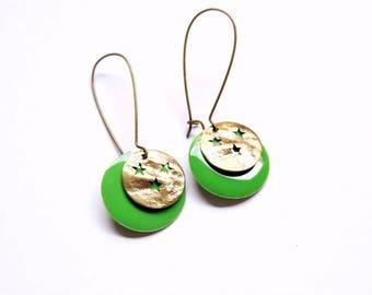 Earrings - By Night (green)
