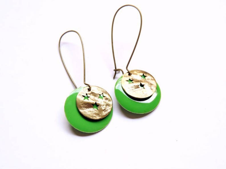 Earrings  By Night green image 0