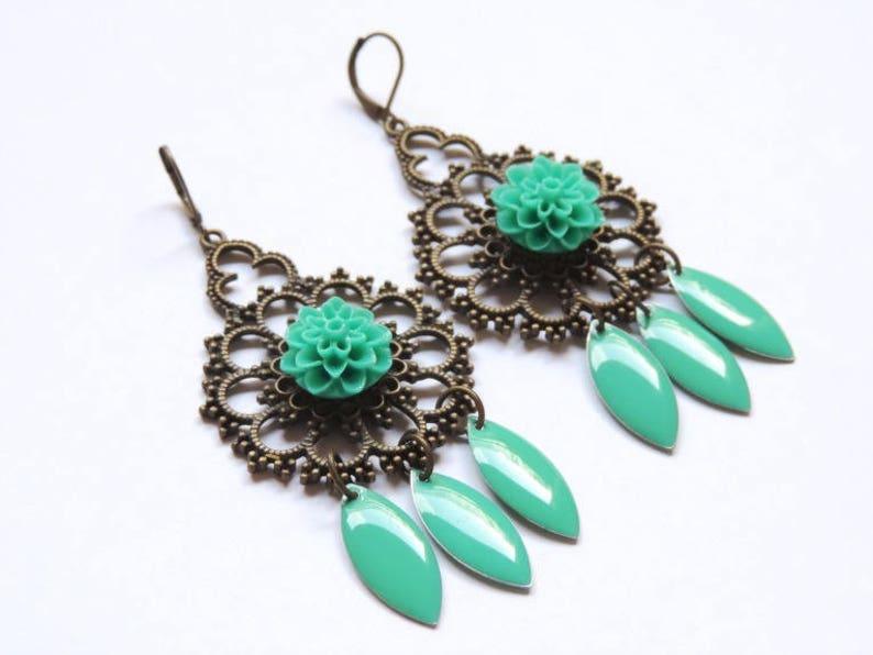 Earrings  Emerald image 0