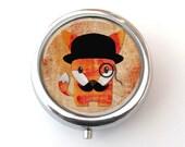 Cute Fox Pill Box, Pill Case, Fox Lovers Gift