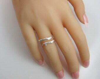 Sterling Silver Ring - 925 Sterling Silver Tree Branch Ring - Twig Ring- Branch Ring - Tree Ring - Adjustable Ring - Sku: 701010