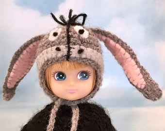 Donkey Eeyore Hat For Fashion And Elf Dolls