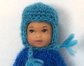 Mini Ski Beanie Hat For Infant & Toddler Fashion Dolls