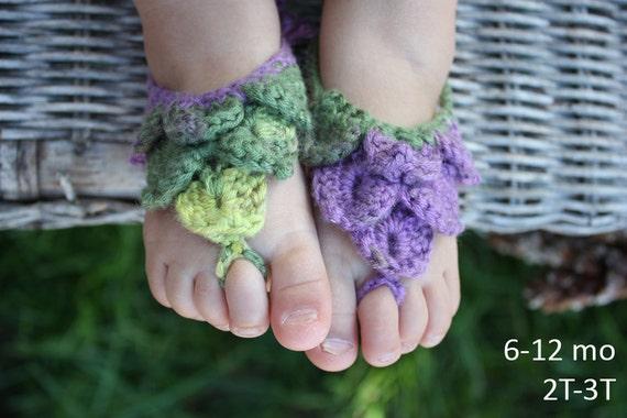Pattern Baby Crocheted Barefoot Sandal Crocheted Shoe Girl Etsy