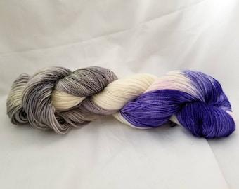 Fairy Garden hand dyed 100% superwash sock yarn 400 yards