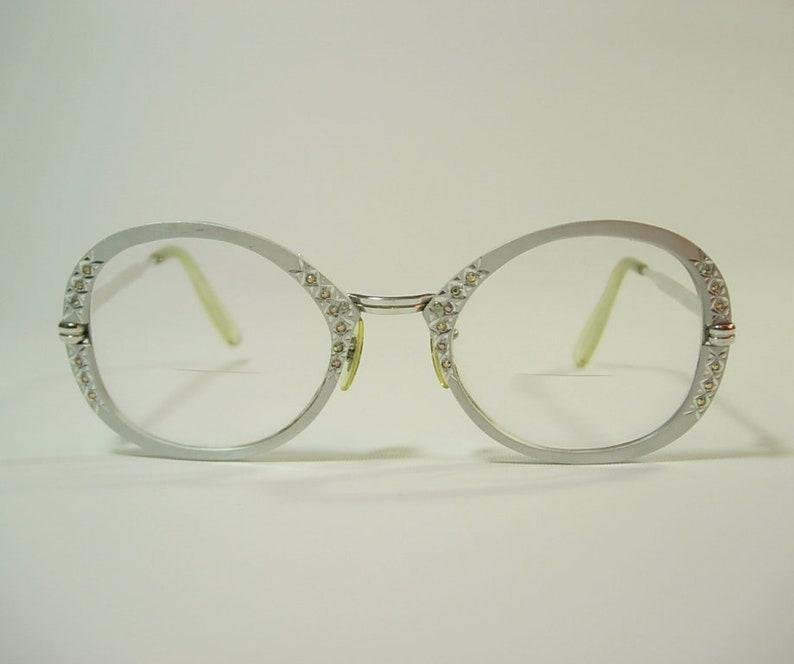 e379c44f43d Gaspari Mod Oversized Eyeglass Frames 1 10 12K GF Rhinestone