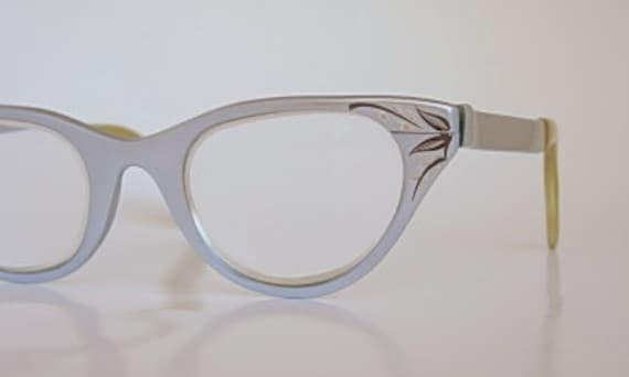 Tura Cat Eye Frames Vintage Light Blue or Silver Satin Finish   Etsy