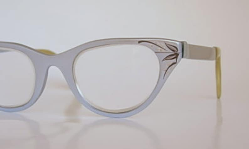 40073f18a7 Tura Cat Eye Frames Vintage Light Blue or Silver Satin Finish