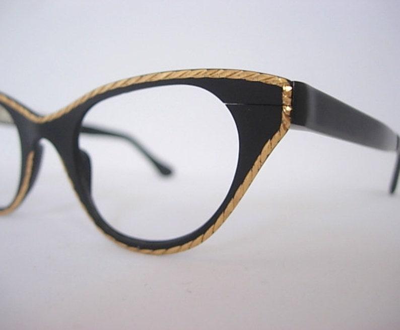 ca59f1facafd Tura Black Vintage Cat Eye Eyeglass Frames New Old Stock NOS