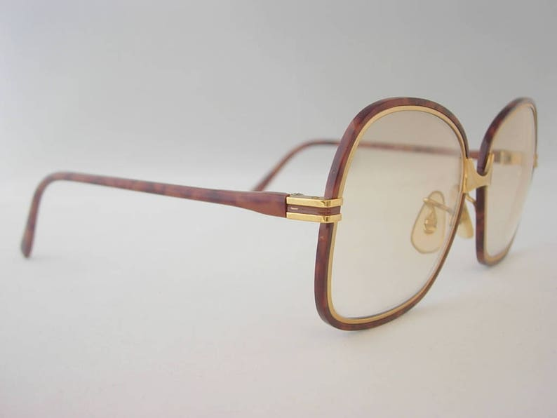 437c216f953 Vintage Tura Oversized Eyeglass Frames Square-ish Amber Brown