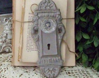 Beau Greige Victorian Doorknob, Faux Door Knob, Cast Iron Door Knob, Cast Iron,  Ornate Cast Iron Knob, Cast Iron Decor, Farmhouse Decor