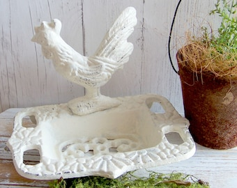 145 Cast Iron Rooster Soap Dish  Inventory No