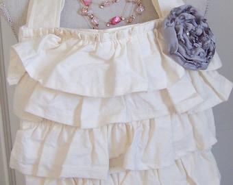 Amy Mosher Designs Hand Ruffled Tote Bag, Muslin Tote Bags, Muslin Ruffled Bags, Ruffles, Totes, Tote Bags, Shabby Chic Bag, Romantic Bags