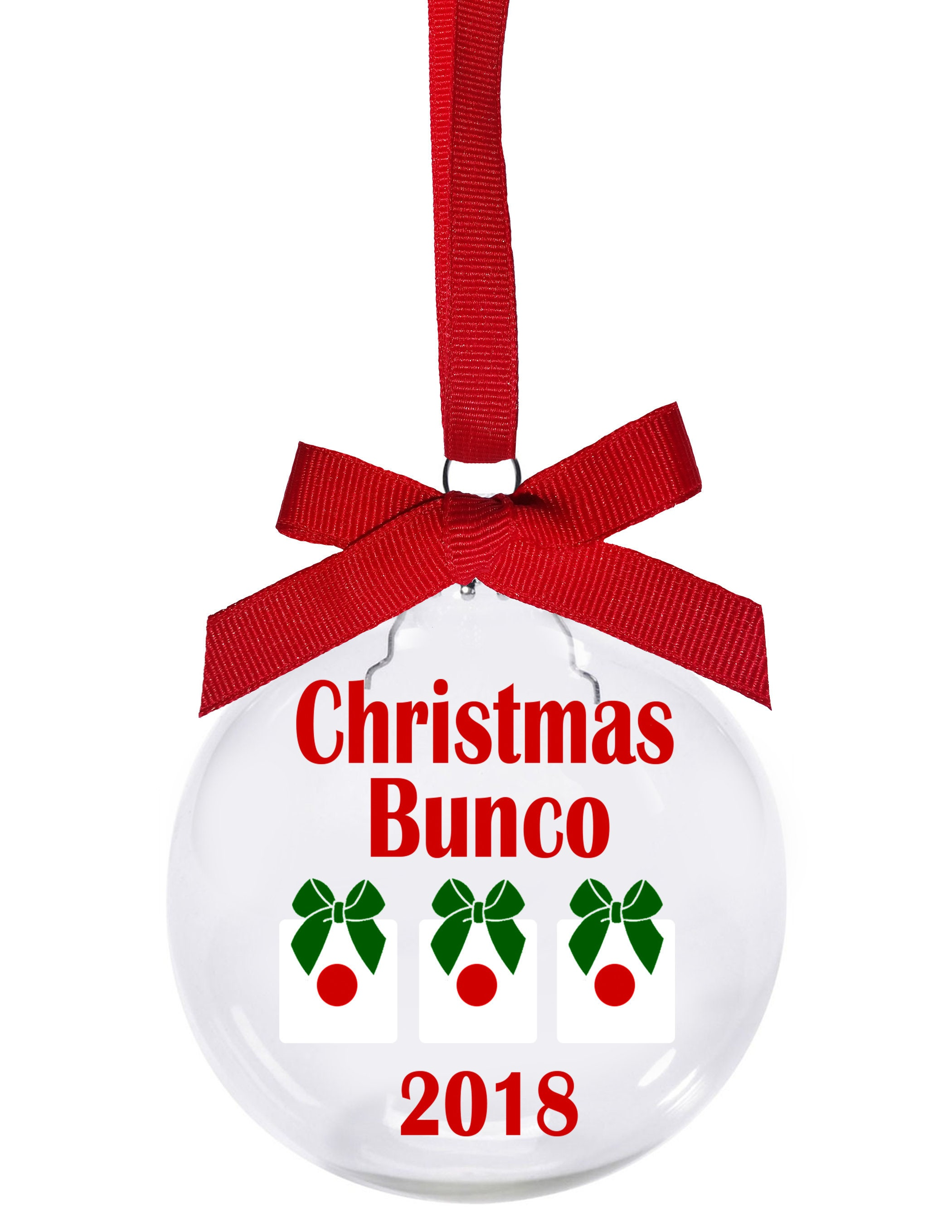 Christmas Bunco 2018 with dice presents Christmas ornament | Etsy
