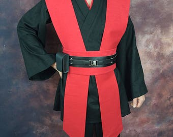 Sith Costume Tunic set with Tabards and Obi - Linen