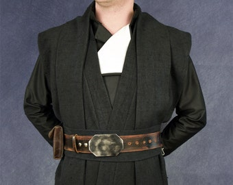 STAR WARS Luke Skywalker ROTJ black tunic, tabards & sash