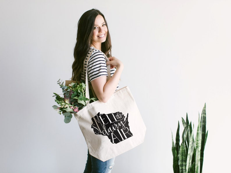 WISCONSIN Hand Lettered Tote Bag Design • Typographic