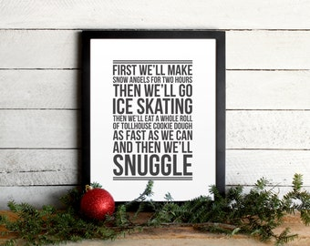 Elf Movie Quote Poster • Christmas To-Do List • Vintage Modern Typographic Christmas Print • Holiday Wall Art • Farmhouse Wall Art Decor