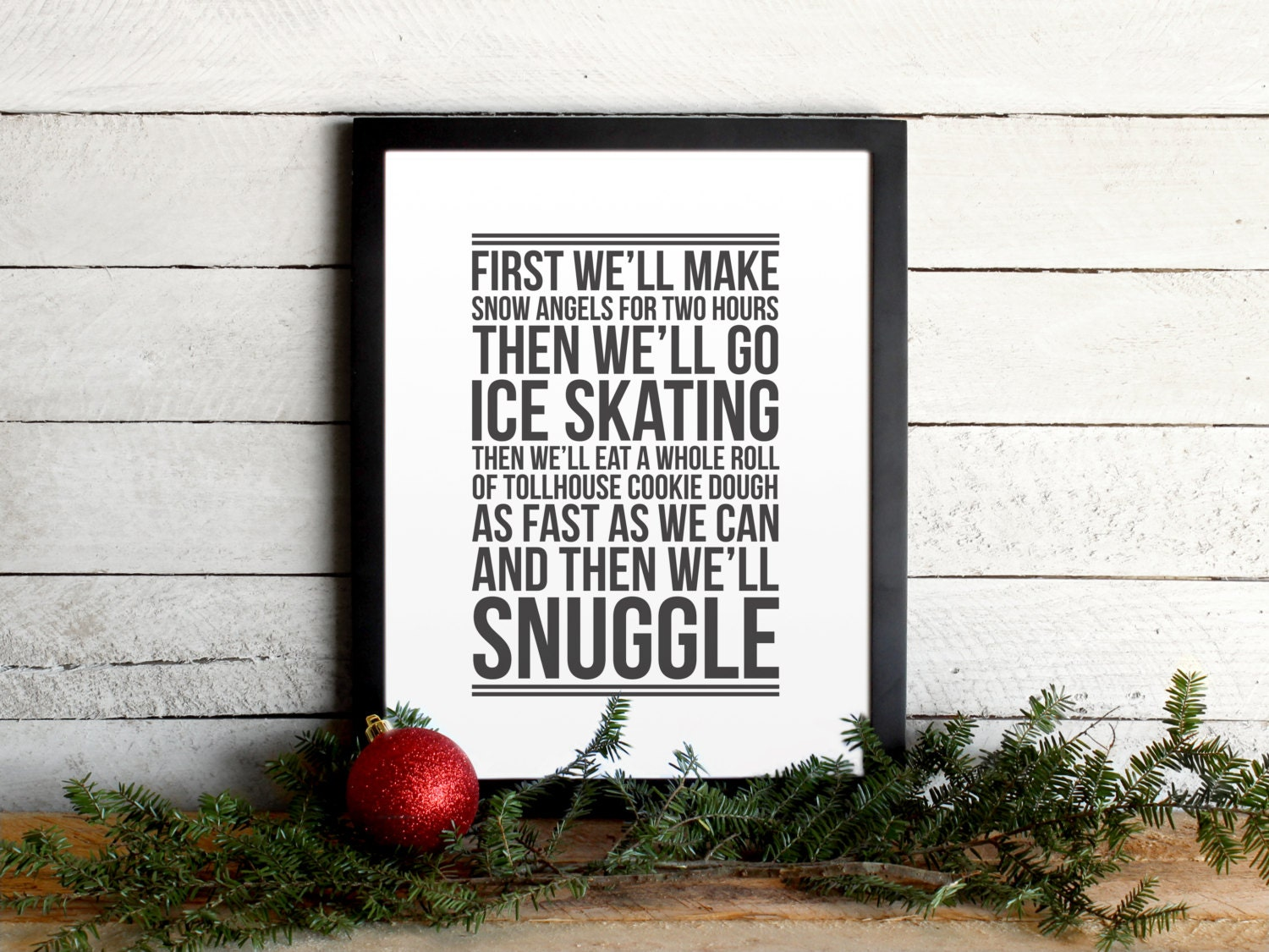 Elf Movie Quote Poster Christmas To-Do List Vintage Modern | Etsy