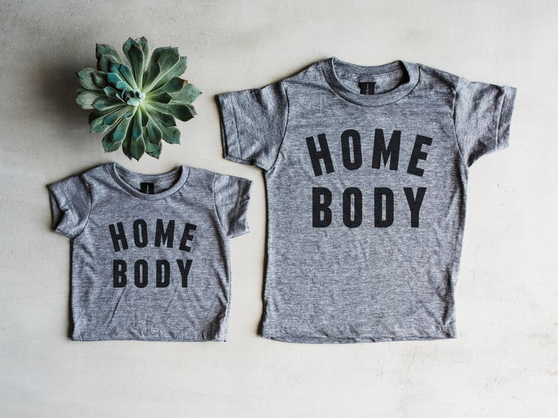 Homebody Matching Sibling Shirts • Set of 2 Graphic Tees Kids and Babies •  Unique Matching Kids Baby Pajamas ... bf19d9862