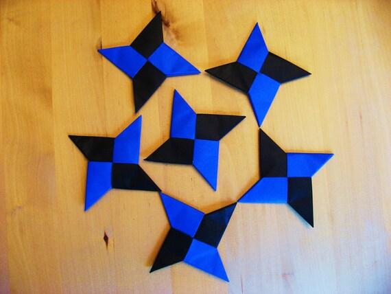 Origami Ninja Stars Set Of 6 Ninja Throwing Stars For Party Etsy