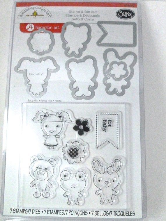 BABY SIZZIX FRAMELITS WITH STAMPS