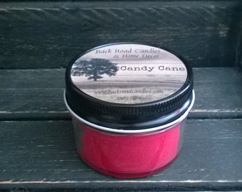 Candy Cane Scented Candle 4 oz. Canning Jar