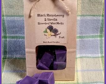 Black Raspberry & Vanilla Scented Wax Melts // Wax Melt Cubes