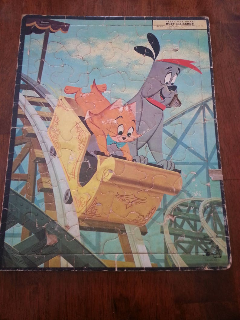 Vintage Ruff and Reddy frame tray puzzle