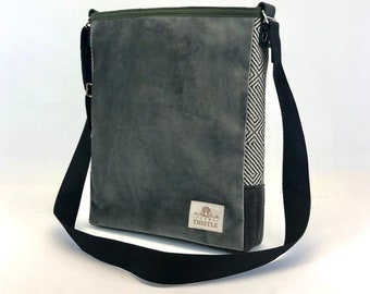 Cross Body Bag - Repurposed Material - One of Kind - Woman's Purse - Unisex Bag - Unique Gift -Eco Friendly -Shoulder Bag - Velvet Purse