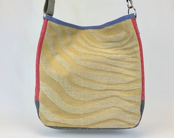 Large Crossbody Bag - One of a Kind Slouchy Tote - Durable Lightweight Travel Bag - Eco Conscious Bag - Ready To Ship - Fun Unique Chic