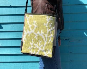 Cross Body Bag - Reclaimed Textiles - One of Kind - Woman's Purse - Unisex Bag - Unique Gift -Eco Friendly -Shoulder Bag - Stylish Purse