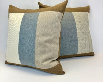 """Throw Cushions - 20"""" x 20"""" Cushion Covers - Large Pillow Covers - Finely Crafted Unique - Farmhouse Modern Style -Eco Conscious"""