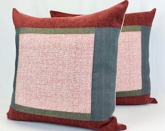 Cushion Covers - Decorative Pillows - Modern Farmhouse Decor - Removable Pillow Covers - Eco Conscious - Ready to Ship