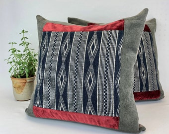 """Cushion Covers - Home Decor - Pillow Cases - Removable Pillow Covers - Throw Cushion - Eco Friendly - Ready to Ship - 18"""" x 18"""""""