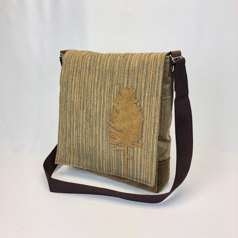 Handcrafted One of A Kind Messenger bag Golden image 0