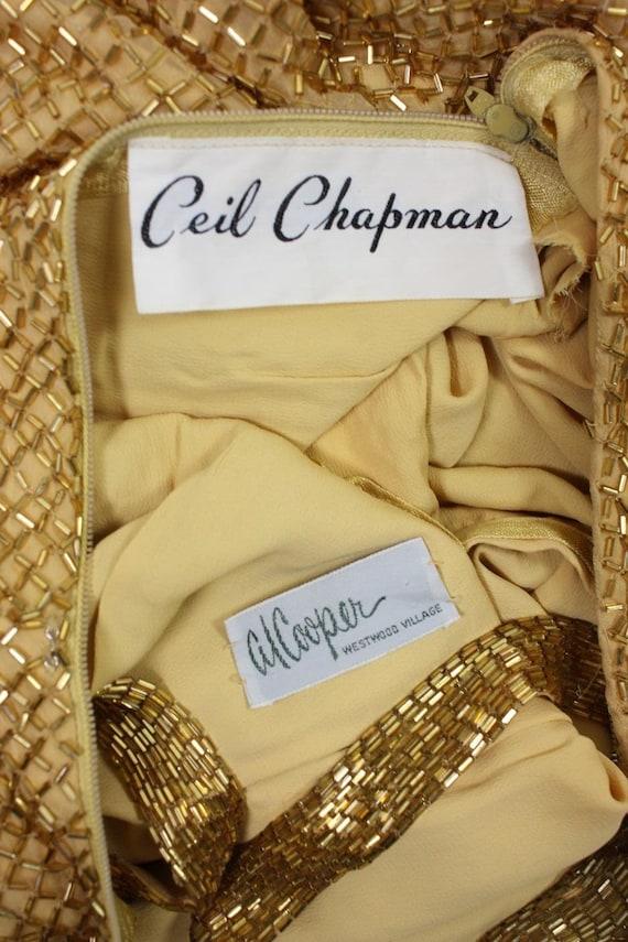 Ceil Chapman Party Dress 1950's Beaded Vintage - image 9