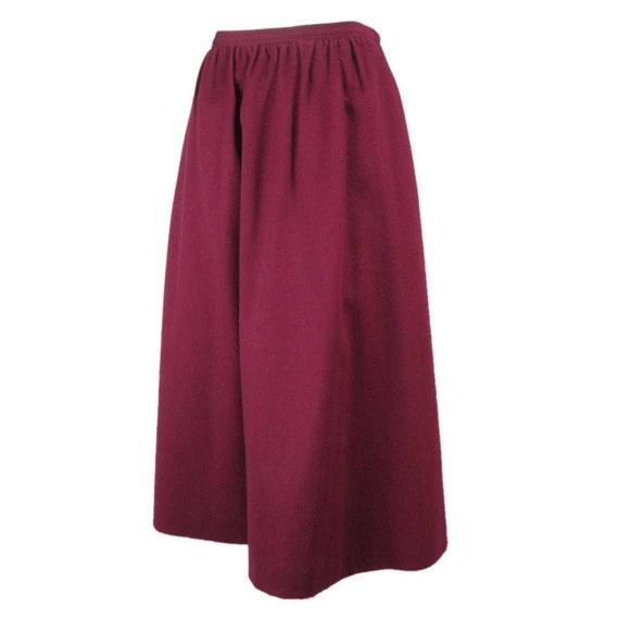 Yves Saint-Laurent Skirt 1970's Wool Vintage