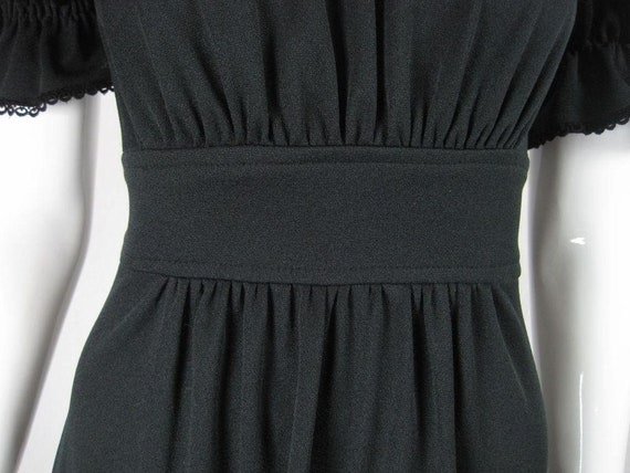 Radley Maxi Dress 1970's Black Vintage - image 6