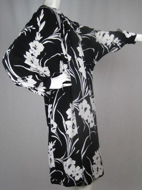 1980's Dress Graphic Floral Vintage - image 5
