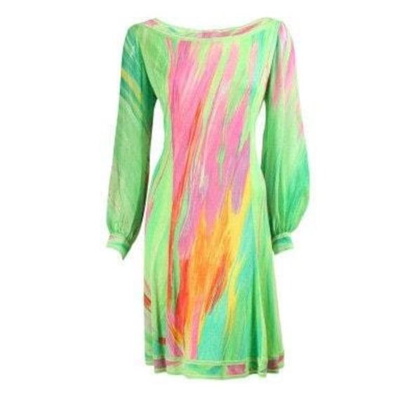 Leonard Dress 1980's Silk Jersey Vintage
